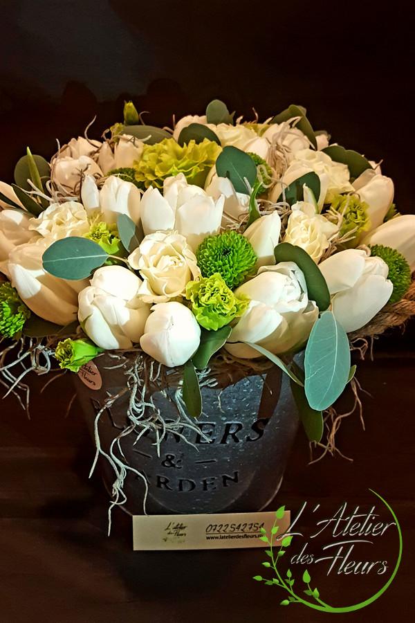 Aranjament Din Lalele Lisianthus Latelier Des Fleurs